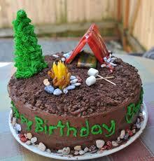 Camping Theme Boys 9th Birthday Party Camping Cake Cakecupcake