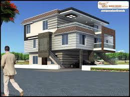 Bedroom Modern Triplex Floor House Design Area Sq Mts D Fd F: Full Size ...
