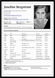 100 Actor Resume Font Headshot Resume Free Resume Example