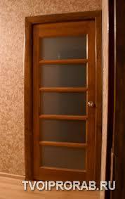 Установка межкомнатных дверей своими руками Отчет с фотографиями  установленная дверь