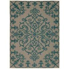 aloha aqua 4 ft x 6 ft indoor outdoor area rug