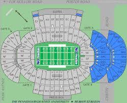 Psu Football Stadium Seating Chart Beaver Stadium Penn State Nittany Lions Football Stadium