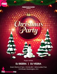 Christmas Flyer Templates Free Download Leaflet Template