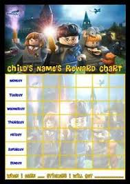 Details About Lego Harry Potter Personalised Reward Chart With Free Stickers And Pen