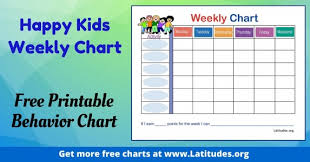 Free Printable Charts For Classroom Free Printable Behavior Charts For Teachers Students 7th