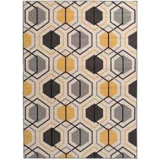 contemporary yellow area rug 8x10 n
