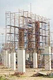 column formwork scaffolding in construction site thailand column formwork scaffolding in construction site thailand stock photo 20316244