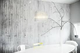 wall color dining table white acrylic concrete optic white establishment