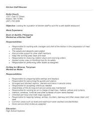 Examples Of Restaurant Resumes Server Resume Skills Examples Servers ...