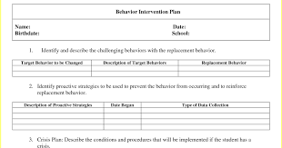 behavior intervention plan template 23 images of intervention plan template for teachers infovia net