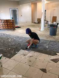 removing tile and thinset from concrete
