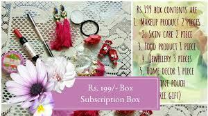 backsedressingroom rs 199 box beauty lifestyle subscription box india