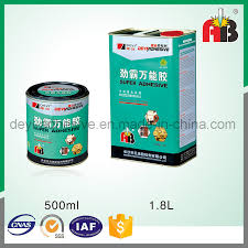 china 1 8l multi purpose high strength contact cement leather contact glue china weather resistance glue chloroprene rubber adhesive