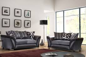 new large farrow shannon sofa corner 5 seater grey black fabric leather couch