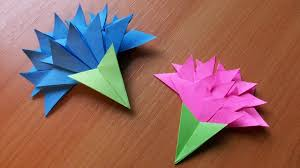 How To Make Origami Paper Flower Papercraft Origami Flowers How To Make Easy Paper Flowers