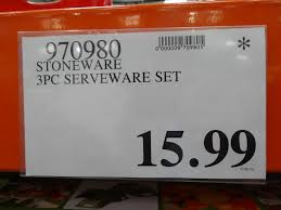 photo costco serving dishes images stoneware 3 piece serving dishes costco