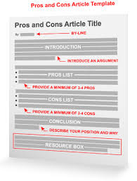 the pros and cons article template