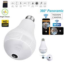 Hd1080p 360 Panoramic Hidden Wifi Ip Camera Light Bulb Home