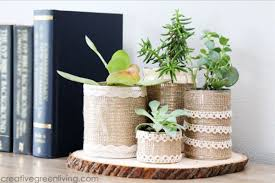 If you need a way to add some green to the inside of your home, succulents  are a great way to do it! Make these adorable planters out of recycled  cans, ...