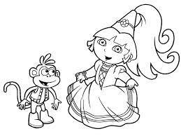 Coloriage Gratuit Dora Princesse Ancenscp