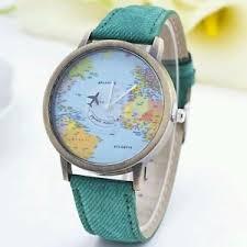 newly design green mini world map watch men women gift watch image is loading newly design green mini world map watch men