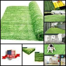 details about fake grass mat area rug outdoor artificial indoor turf green carpet backyard new