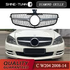 Vind fantastische aanbiedingen voor 300 c grill. Front Grille Suitable For Mercedes Benz C Class W204 Diamond Grille C180 C200 C300 C250 C350 2008 14 With Emblem Racing Grills Aliexpress