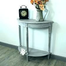 half round entry table small moon foyer e design oak end hall decorating ideas