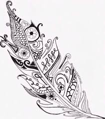 Feather Coloring Bookstatootattoo