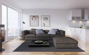 elegant furniture sets gray sofa white brick fireplace shelf with rabbits decorations purple damask pattern wall brick living room furniture