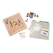 Wooden Game With Marbles Colorku A colorful spin on Japanese logic puzzles this wooden 57