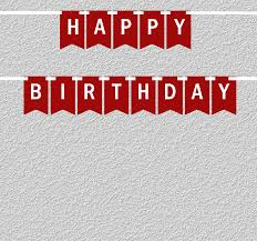 Burgundy White Happy Birthday Bunting Letter Banner
