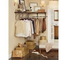 Clothes hanging shelf Maidmax Pottery Barn New York Closet Shelves Pottery Barn