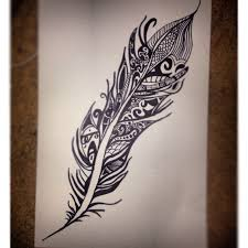 cool designs to draw with sharpie. Tribal Feather Sharpie Drawing Cool Designs To Draw With