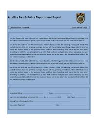 Police Reports Template Police Report Template 5