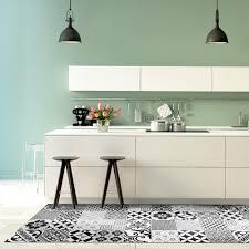 Vinyl Kitchen Floor Mats Buy Beija Flor Eclectic Vinyl Floor Mat Black White Amara