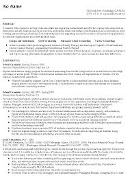 Counselor Resume 15 Counseling Psychologist Techtrontechnologies Com