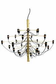 gino sarfatti chandelier in brass first ion