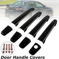 8pcs set abs gloss black 4 door handle covers for mitsubishi lancer 2008 2018