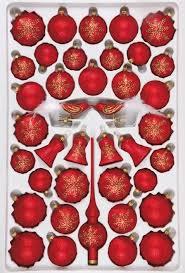 Christbaumschmuck Sortiment Mystic Red 39 Teilig Weihnachtsbaumschmuck Rot Mit Goldenen Eiskristallen