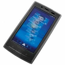 sony ericsson xperia. silicone case for sony ericsson xperia x10 - black