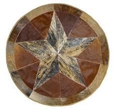 cowhide patch work texas star cowhide rug patch round diameter 1 meter