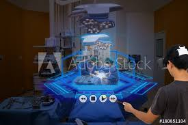 Medical Technology Example Smart Medical Technology Concept Medical Student Use Augmented