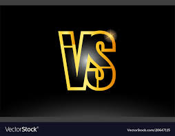 Gold Black Alphabet Letter Vs V S Logo