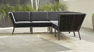 moroccan garden furniture. Morocco Graphite 5-Piece Sectional With Sunbrella Cushions In Lounge Furniture + Reviews | Crate And Barrel Moroccan Garden