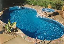 inground pools with waterfalls and hot tubs. Small Omni With Overflow Hot Tub Inground Pools Waterfalls And Tubs D