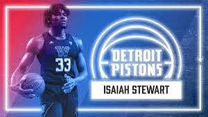 Pistons have selected F Isaiah Stewart ...
