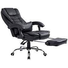 office reclining chair. Cherry Tree Luxury Extra Padded High Back Reclining Faux Leather Relaxing Swivel Executive Chair With Footrest Office