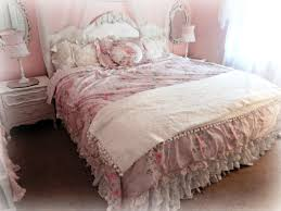 image of affordable shabby chic crib bedding
