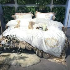 cream duvet cover 4 cream white golden luxury cotton royal bedding sets queen king size duvet cream duvet cover